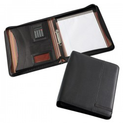 Madrid A4 Zippered Compendium with Calculator