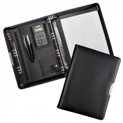 Aberdeen Bonded Leather Zippered Compendium