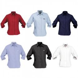 Ladies' Pin-point Shirt (3/4 Sleeve)