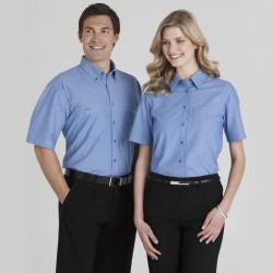 Ladies S/S Chambray Shirt