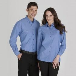 Ladies L/S Chambray Shirt