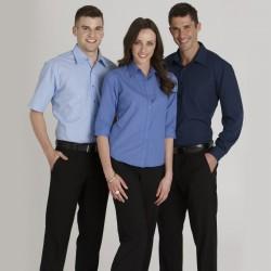 Ladies 3/4 Sleeve Metro Check Shirt
