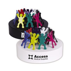 Assorted Colour Gymnast Clips On Oval Paperweight / Magnetic Base