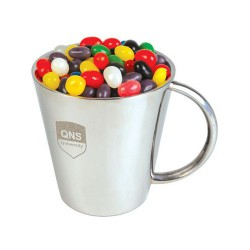 Assorted Colour Mini Jelly Beans in Double Wall Stainless Steel Coffee Mug