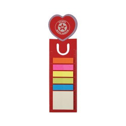 Love Heart Dye Cut Bookmark / Ruler with Noteflags