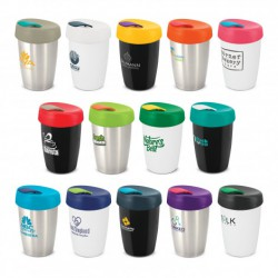 White Dark Green 350ml Double Wall Express Cup Elite