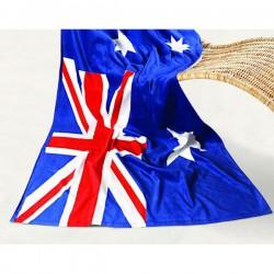 Aussie Flag Printed Beach Towel