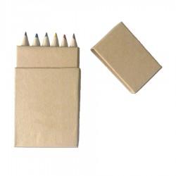6 Pack Coloured Pencils in Mini Pencil Box