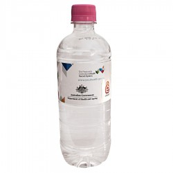 600ml Natural Spring Water with Pink Cap
