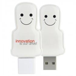 Mini USB People - White
